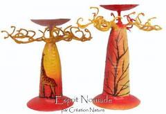 9162041 colored candleholder baobab 10 cm