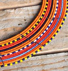 29123 Maasai jumping necklace 15 lines